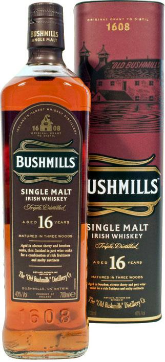 Bushmills Whiskey 16 Jahre Three Woods