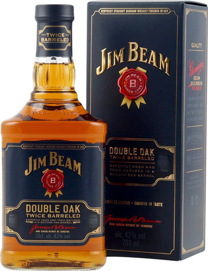 Jim Beam Whiskey Double Oak